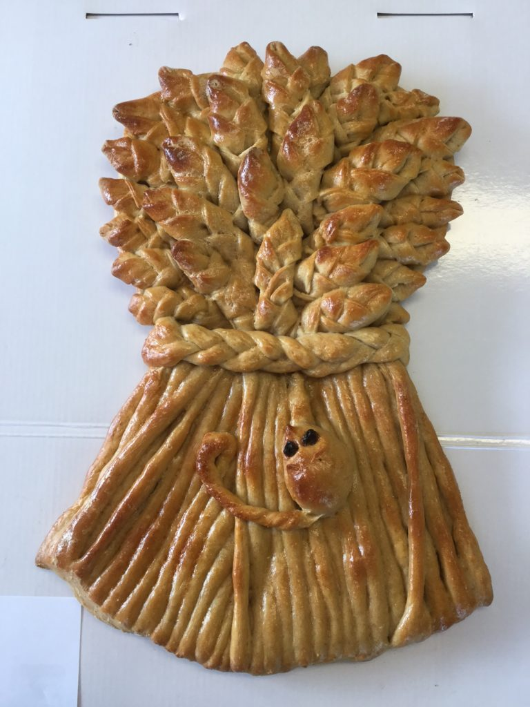 Baking your own bread means more creativity, like this beautiful commissioned harvest wreath!